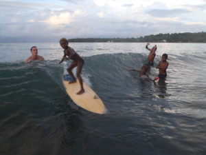surfing in Namuga