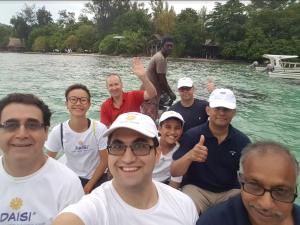 DAISI members in boat