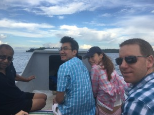 Santee, Jonathan, Christy & Ben on boat ride