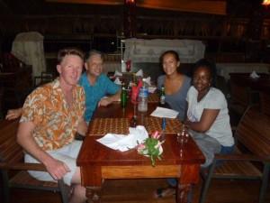 dinner at Gizo Hotel