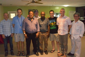 DAISI team with Solomon Islands Health Minister