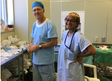 Anaesthetist Geoff Symonds with medical student Shanice Sri