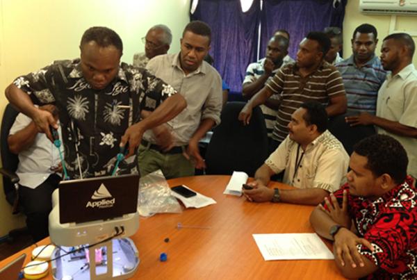 registrars using applied laparoscopic simulator