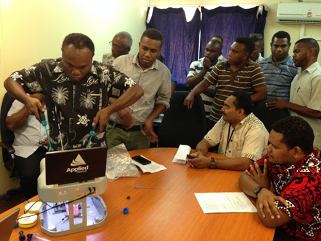 registrars using applied laparoscopic simulator