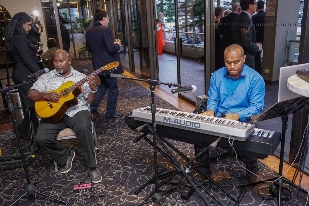Narko Tutuo playing welcome music