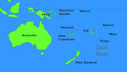 Map Of Santa Cruz Islands South Pacific