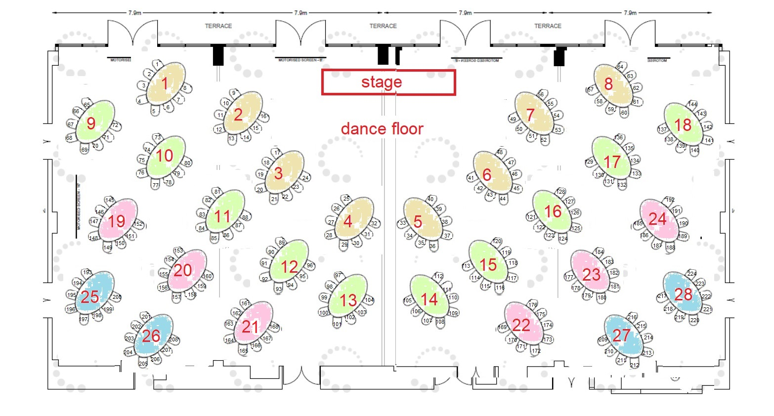 SEATING AND FLOOR PLAN